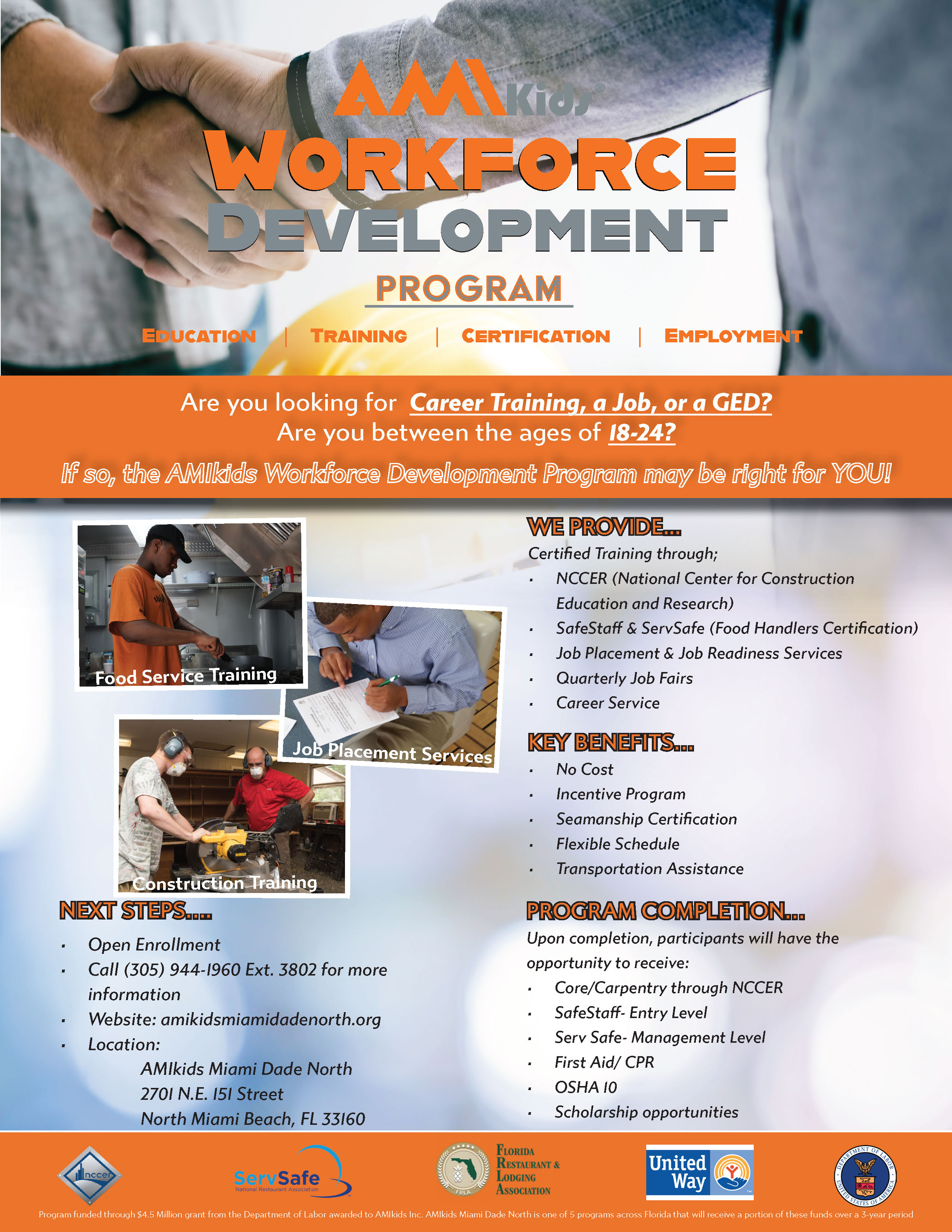 Workforce Development Flyer Miami Dade North 12.11.19